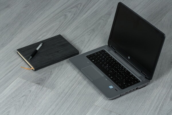 laptop computer, black, grey, portable computer, pencil, modern, expensive, fancy, notebook, personal computer