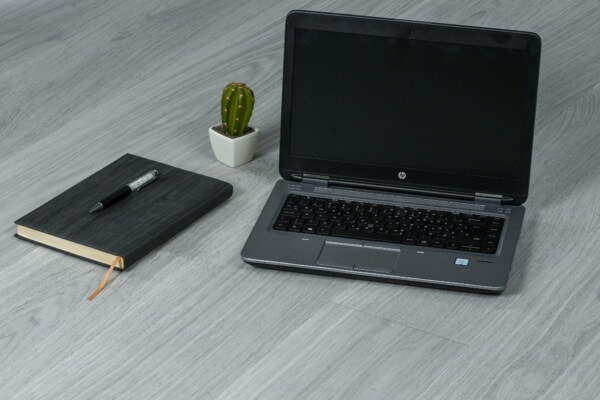 design, minimalism, laptop computer, office, flowerpot, pencil, notebook, cactus, computer, laptop