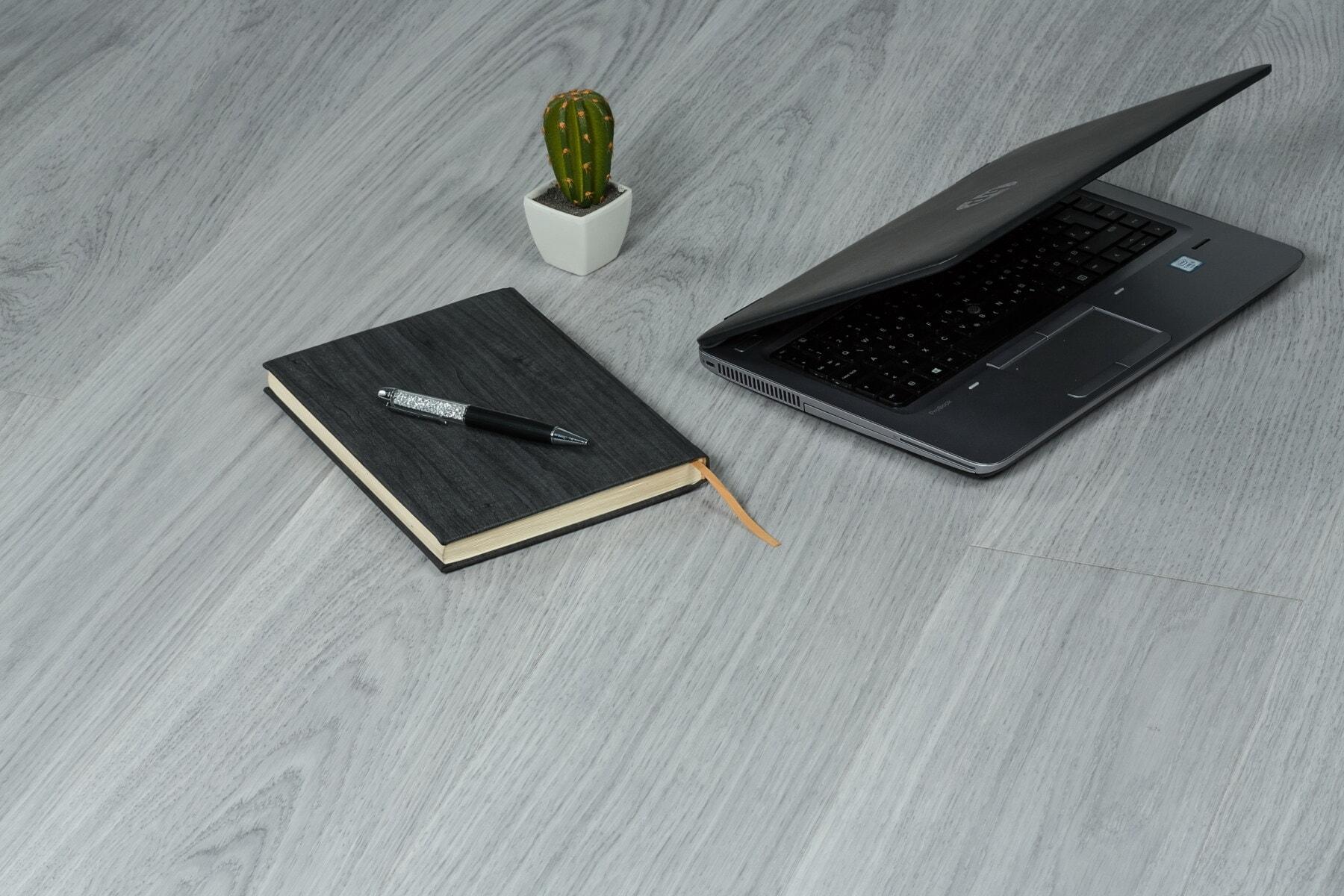 персональный компьютер, портативный компьютер, Портативный компьютер, Ноутбук, офис, элегантный, стол, модные, фантазии, минимализм