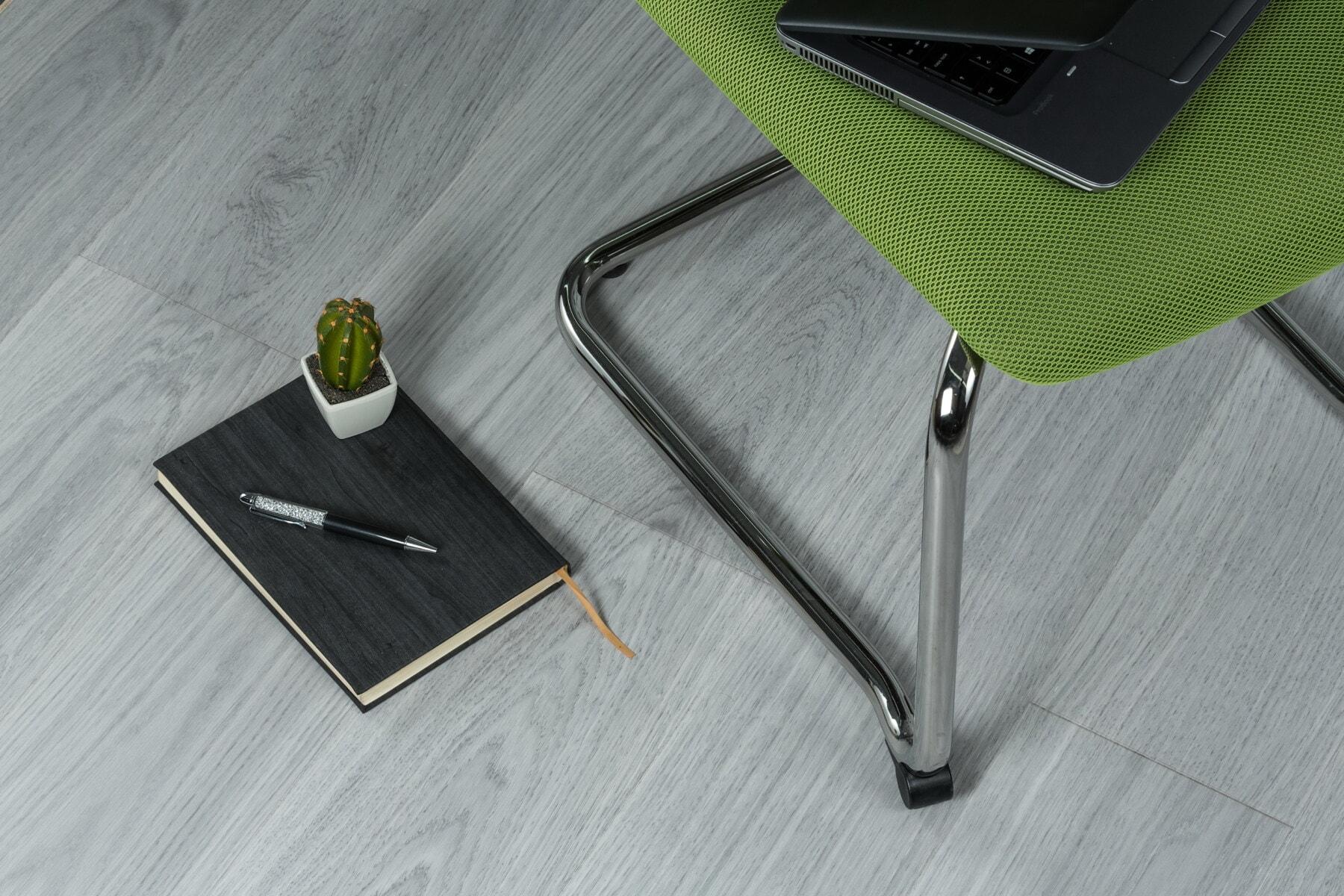 chaise, Bureau, ordinateur portable, plancher, ordinateur portable, crayon, miniature, pot de fleurs, Minimalisme, entreprise