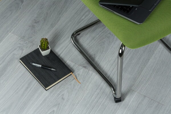 chair, office, laptop computer, floor, notebook, pencil, miniature, flowerpot, minimalism, business
