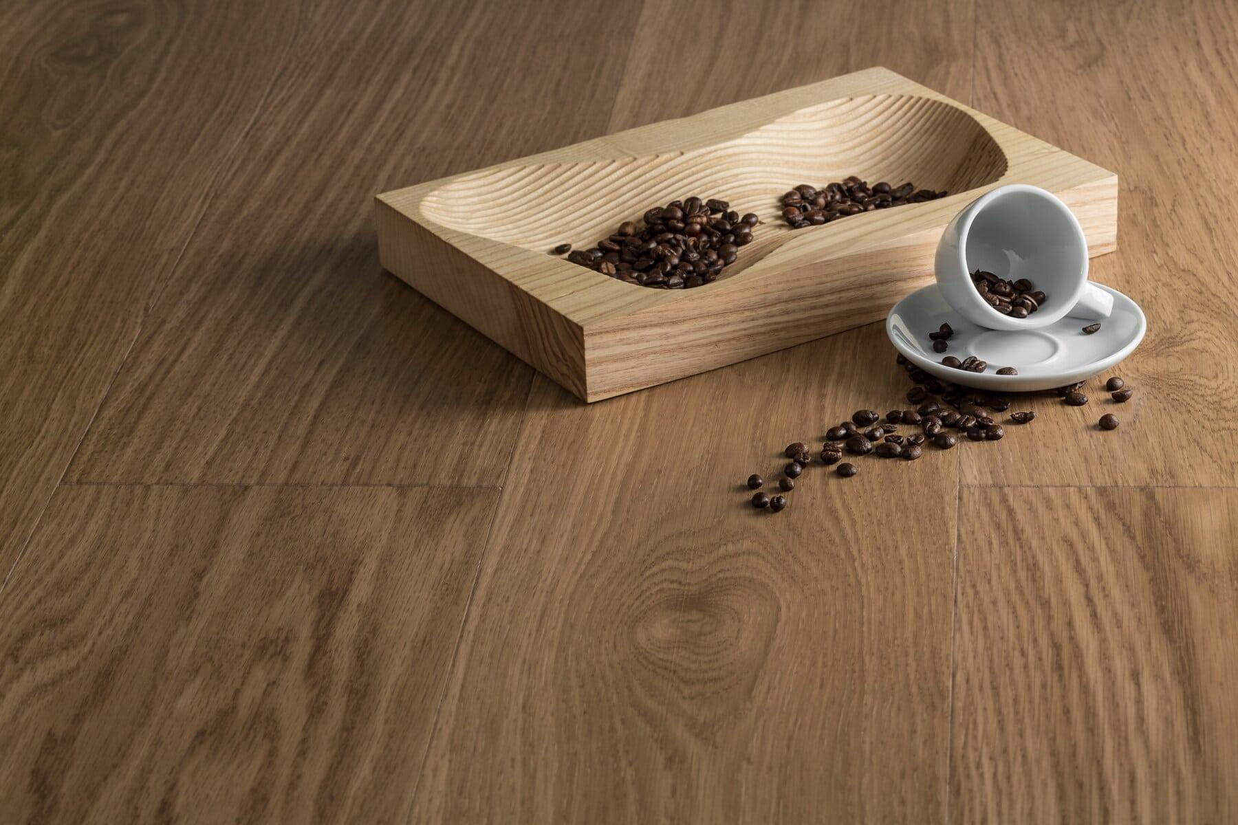 种子, 烤, 咖啡, 咖啡杯, 硬木, 木材, 服务, 地板, 木, 黑暗