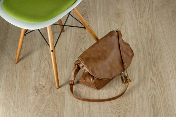 handbag, baggage, leather, brown, light brown, seat, wood, chair, retro, wooden