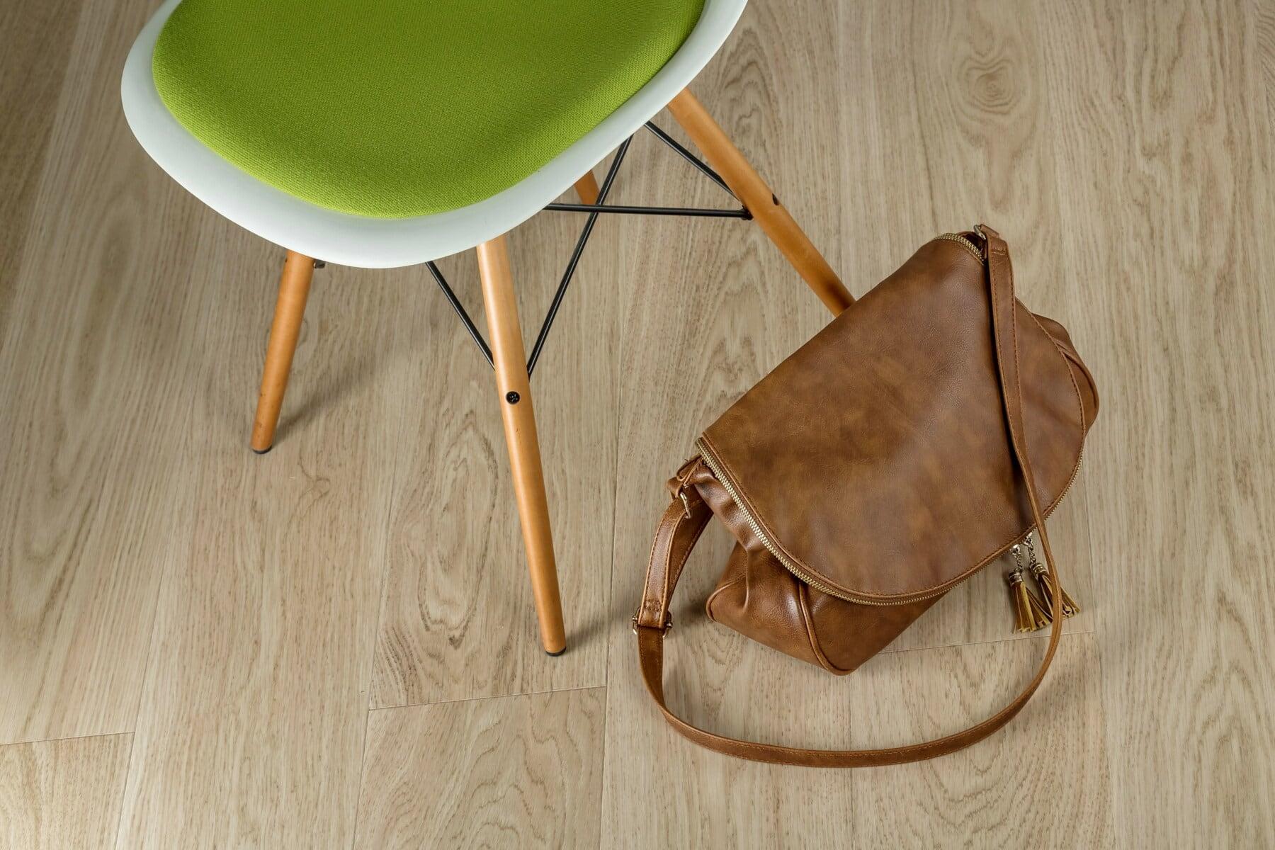 sac à main, brun clair, classique, mode, style, conception, chaise, confortable, siège, meubles
