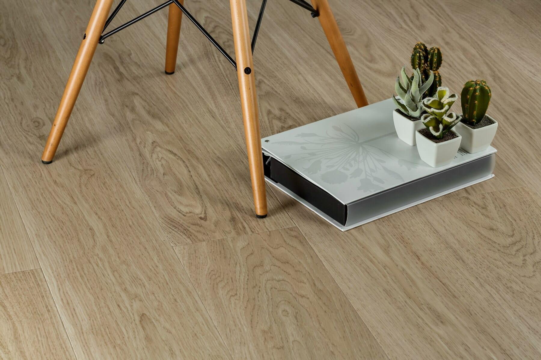 miniature, reol, urtepotte, moderne, minimalisme, komfortabel, stol, gulvet, boligindretning, træ