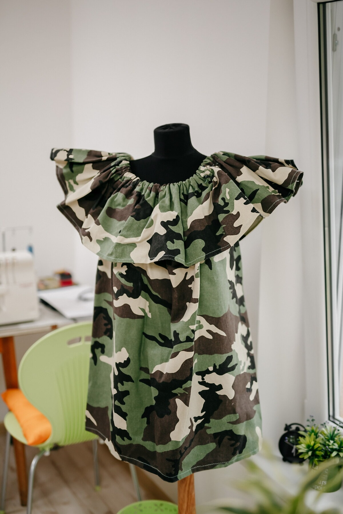 dress, design, military, studio, workshop, texture, boutique, clothing, camouflage, fashion
