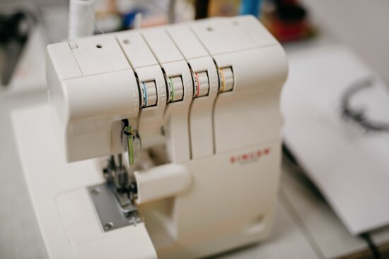 sewing machine, needle, sewing needle, professional, workplace, tool, workshop, device, indoors, industry