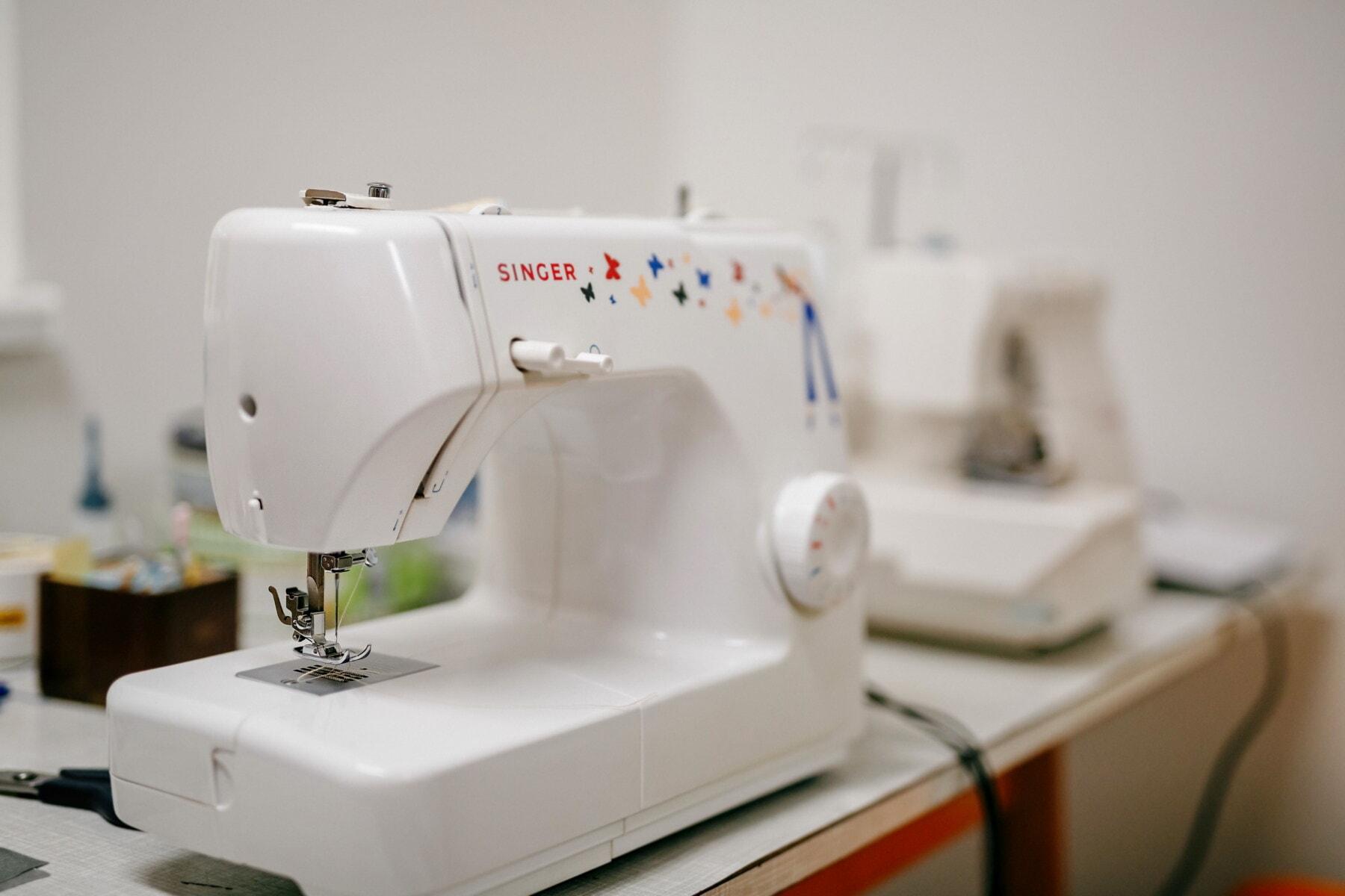 machine à coudre, Salon, aiguille à coudre, Atelier, couture, unité, à l'intérieur, aiguille, équipement, secteur d'activité