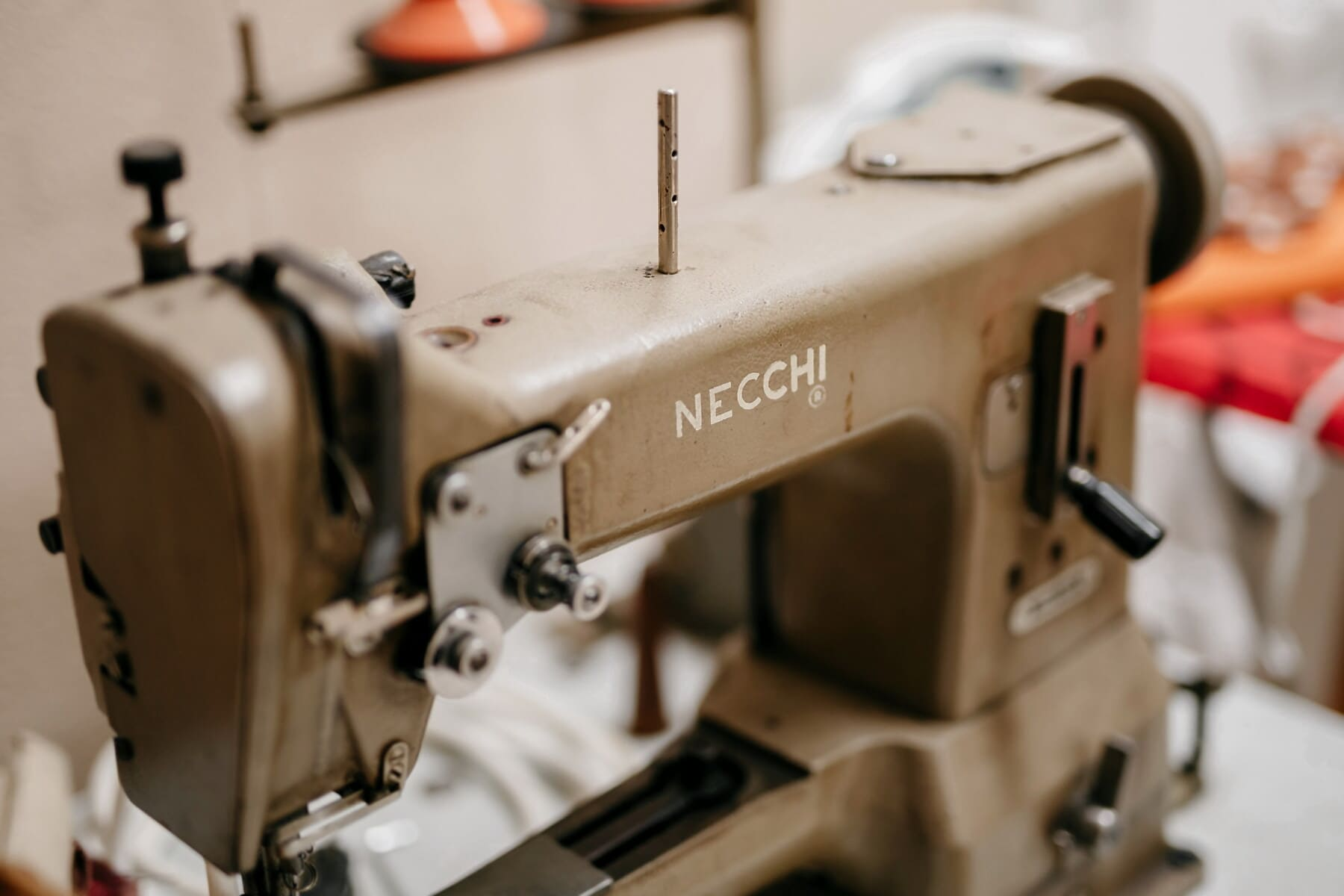 professionelle, Nähmaschine, Wohnzimmer, Werkzeug, Workshop, Mechanismus, Antik, Präzision, industrielle, alt
