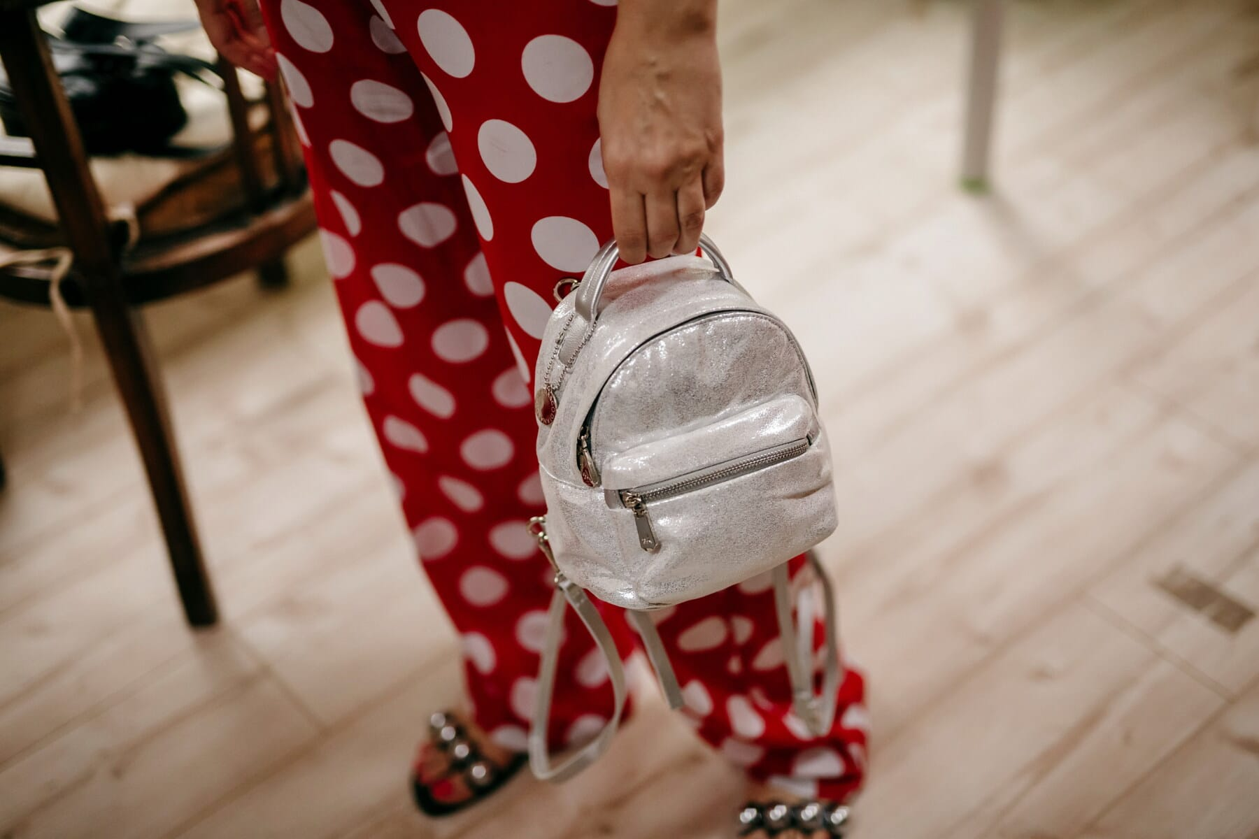 白色, 手提包, 红, 女人, 裤子, 时尚, 风格, 女孩, 室内, 复古