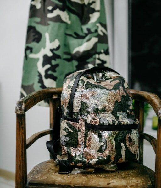 military, design, trendy, fancy, vintage, style, chair, camouflage, seat, retro