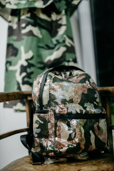 bagages, bagages, militaire, modèle, conception, texture, camouflage, moderne, style, mode