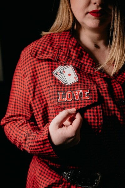 aces cards, love, message, game, red, fashion, shirt, outfit, trendy