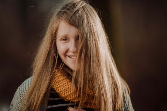 teenager, smiling, blonde, pretty girl, beautiful, scarf, winter, sweater, cold, portrait