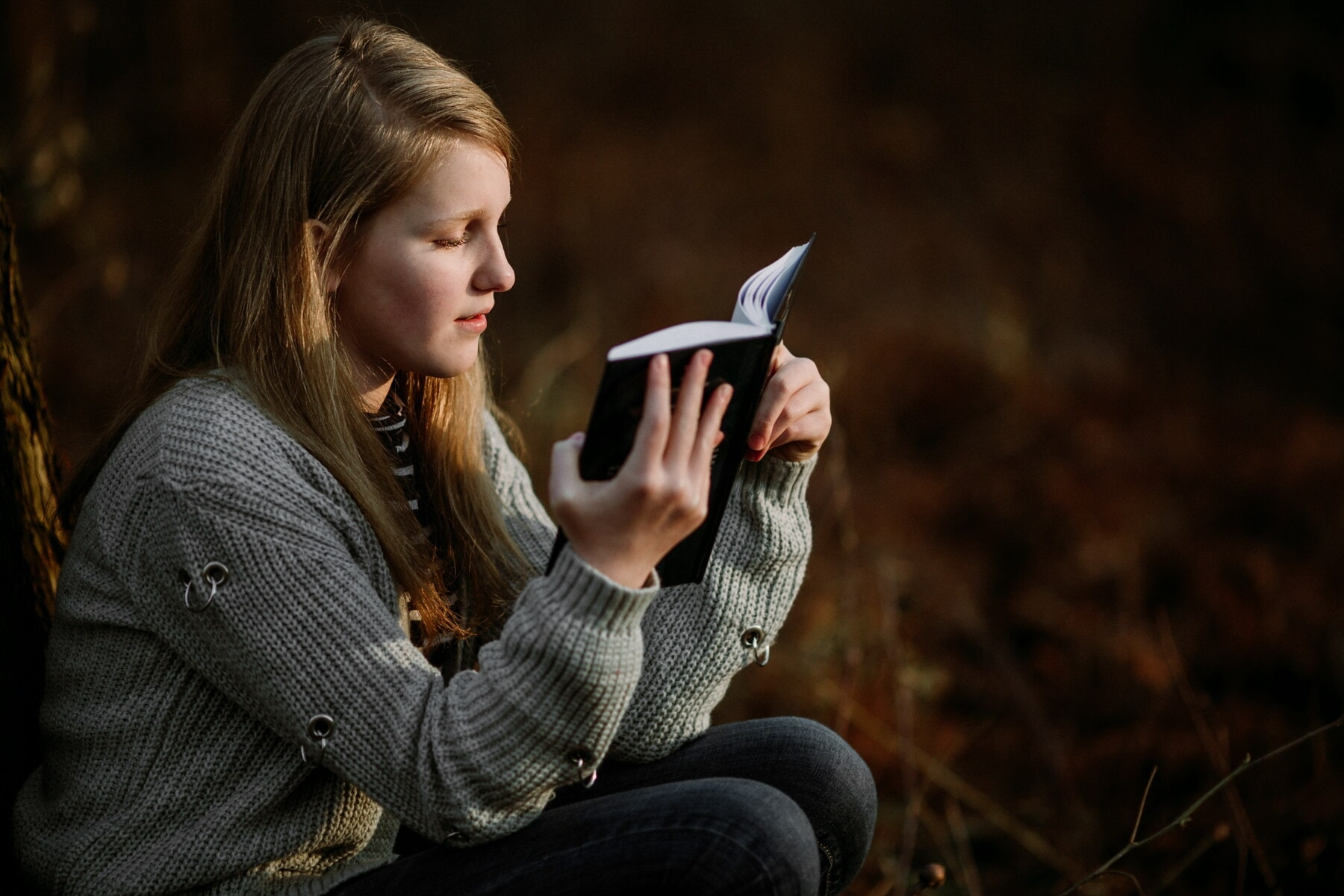 young woman, student, teenager, reading, book, educational program, wisdom, knowledge, education, woman
