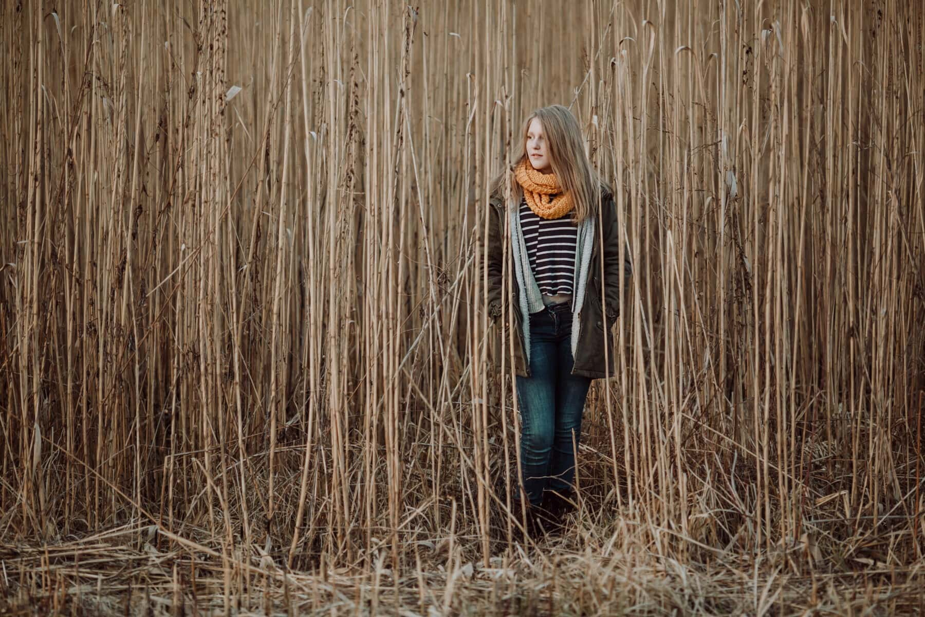 stojace, teenager, pole, poľnohospodárske, Šatka, sveter, chladný, bunda, Letná sezóna, dievča