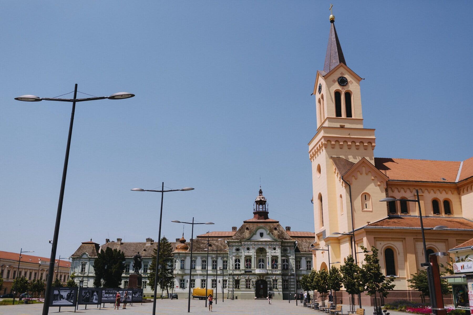 Innenstadt, Stadt, Europa, East, Platz, Rathaus, Hauptstadt, Kirchturm, Architektur, kathedrale