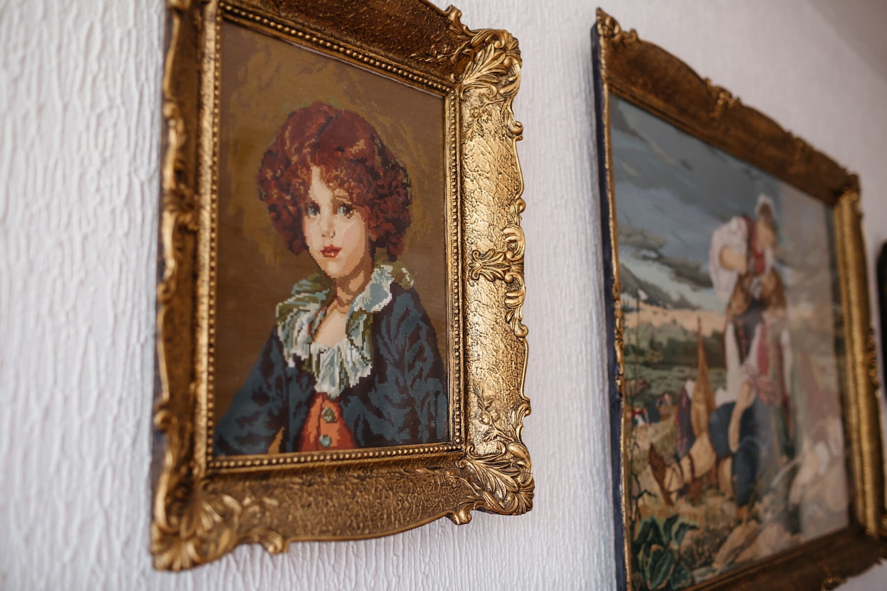 frame, portrait, art, baroque, traditional, handmade, vintage, old, decoration, antique
