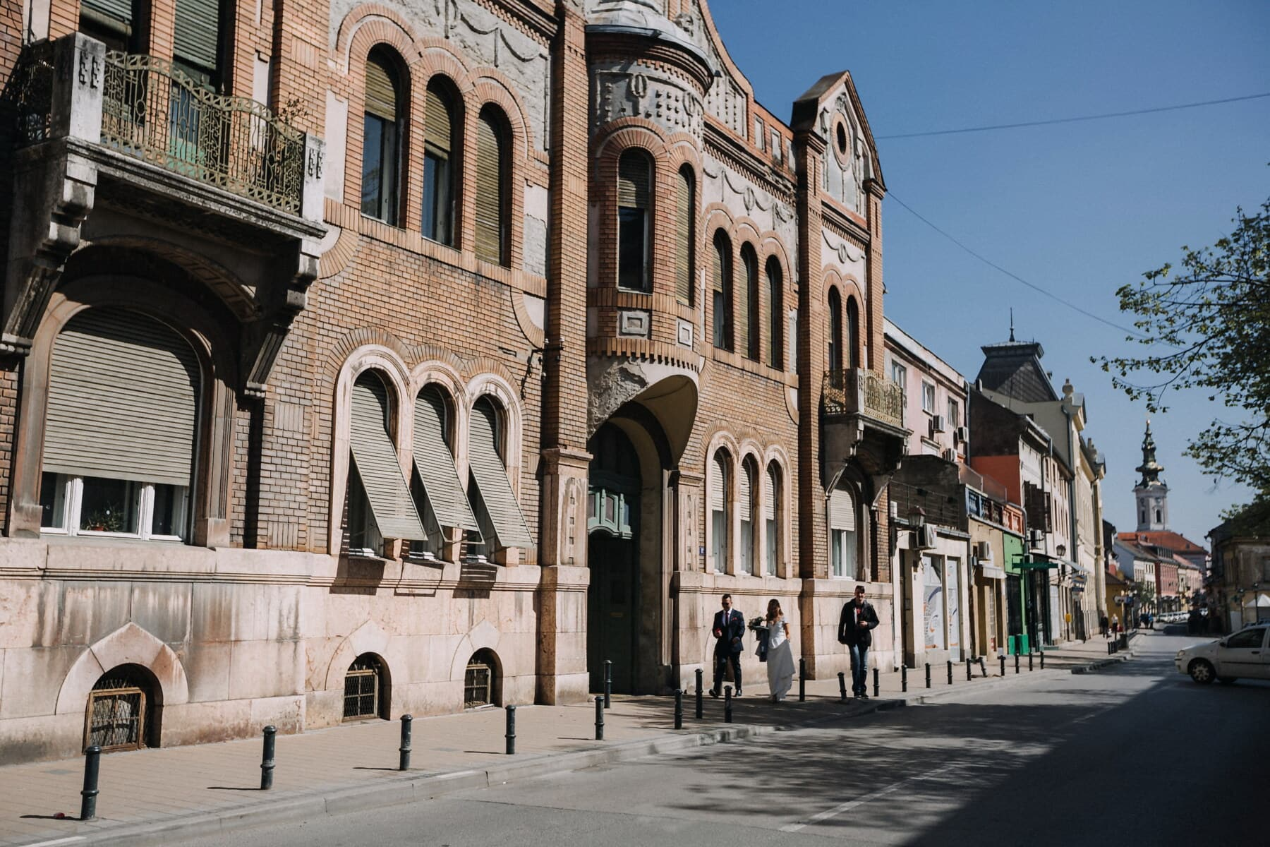 east, European, street, town, city, architecture, building, facade, old, urban