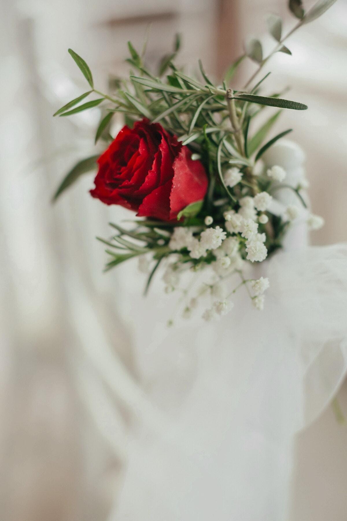 kytice, červená, minimalismus, miniaturní, elegantní, růže, svatba, příroda, květ, vánoční