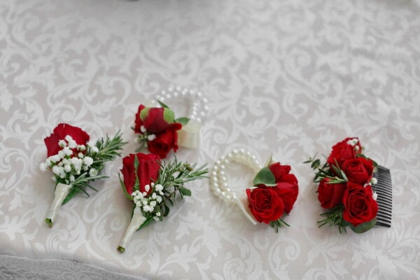 accessory, feminine, roses, silk, pearl, arrangement, flower, decoration, rose, bouquet