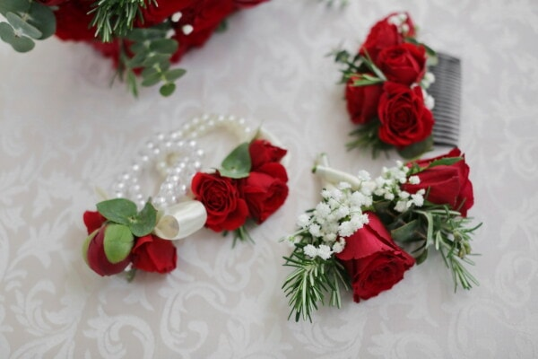 bouquet, miniature, decorative, roses, decoration, flower, arrangement, rose, celebration, romance
