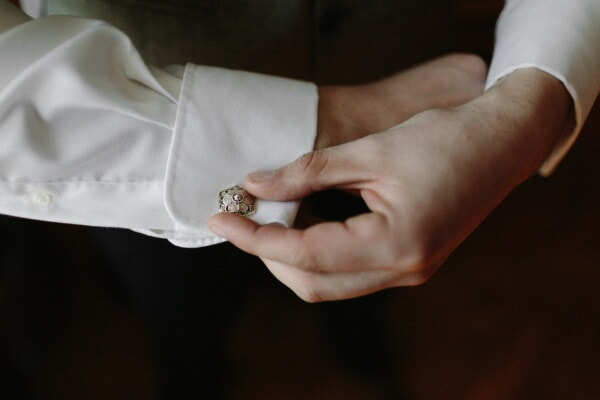 cuff, sleeve, white shirt, button, luxury, jewelry, fashion, hands, man, hand