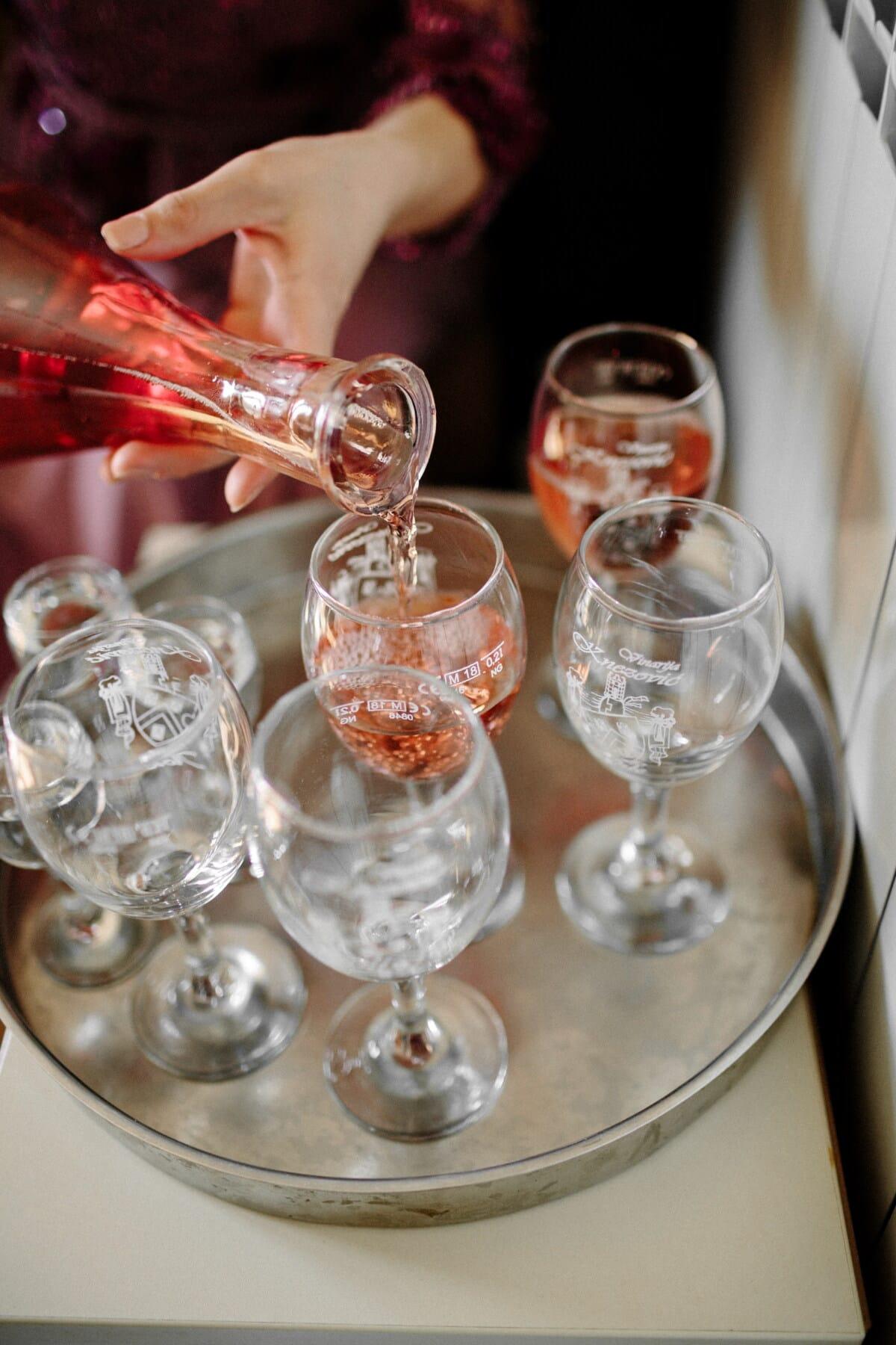 bottle, vintage, red wine, crystal, glass, wine, beverage, drink, alcohol, party