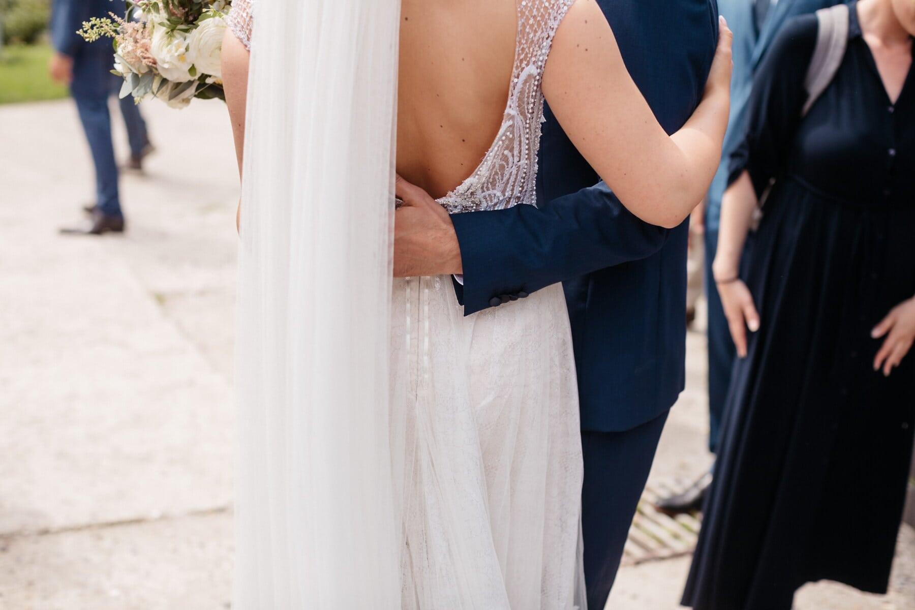 groom, dance, dancing, just married, bride, love, wedding, woman, fashion, street