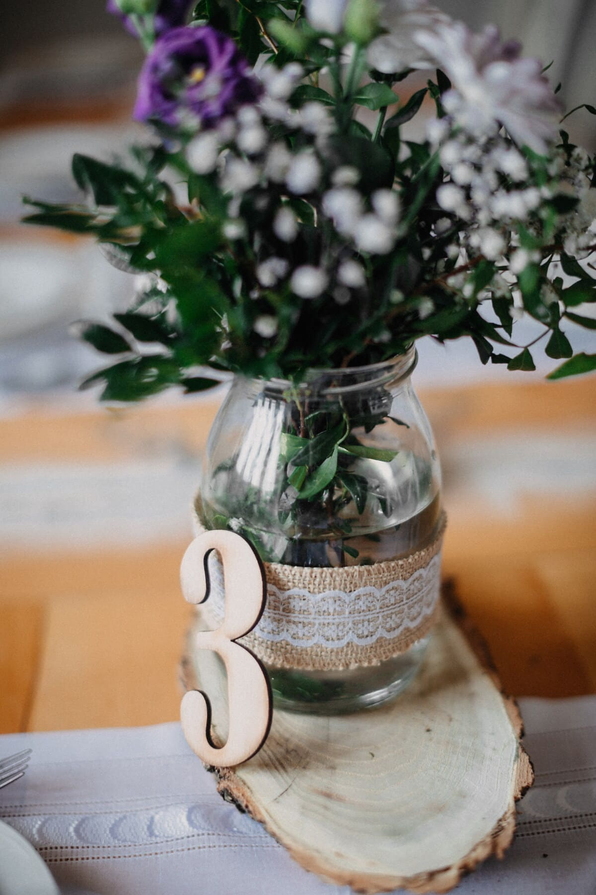 jar, vase, vintage, number, bouquet, three, table, sign, flower, leaf