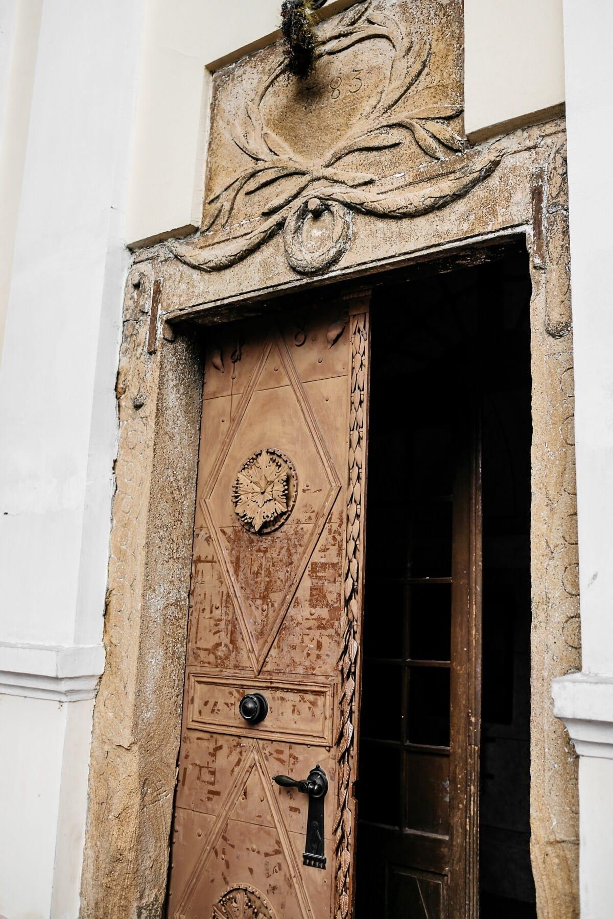 monastère, médiévale, porte d'entrée, Pierre, architecture, Porte, vieux, antique, art, bâtiment