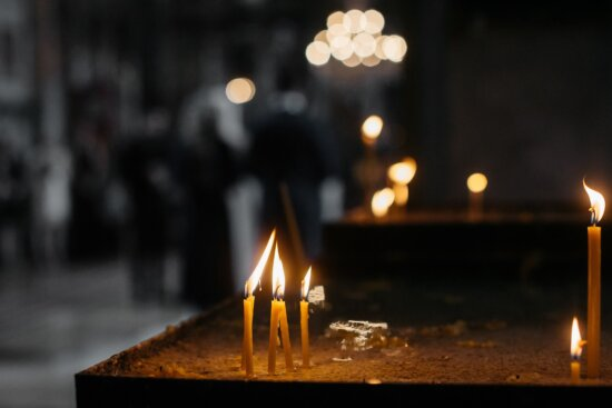 death, grief, mourning, spirituality, church, candles, candlelight, emotion, flame, burn