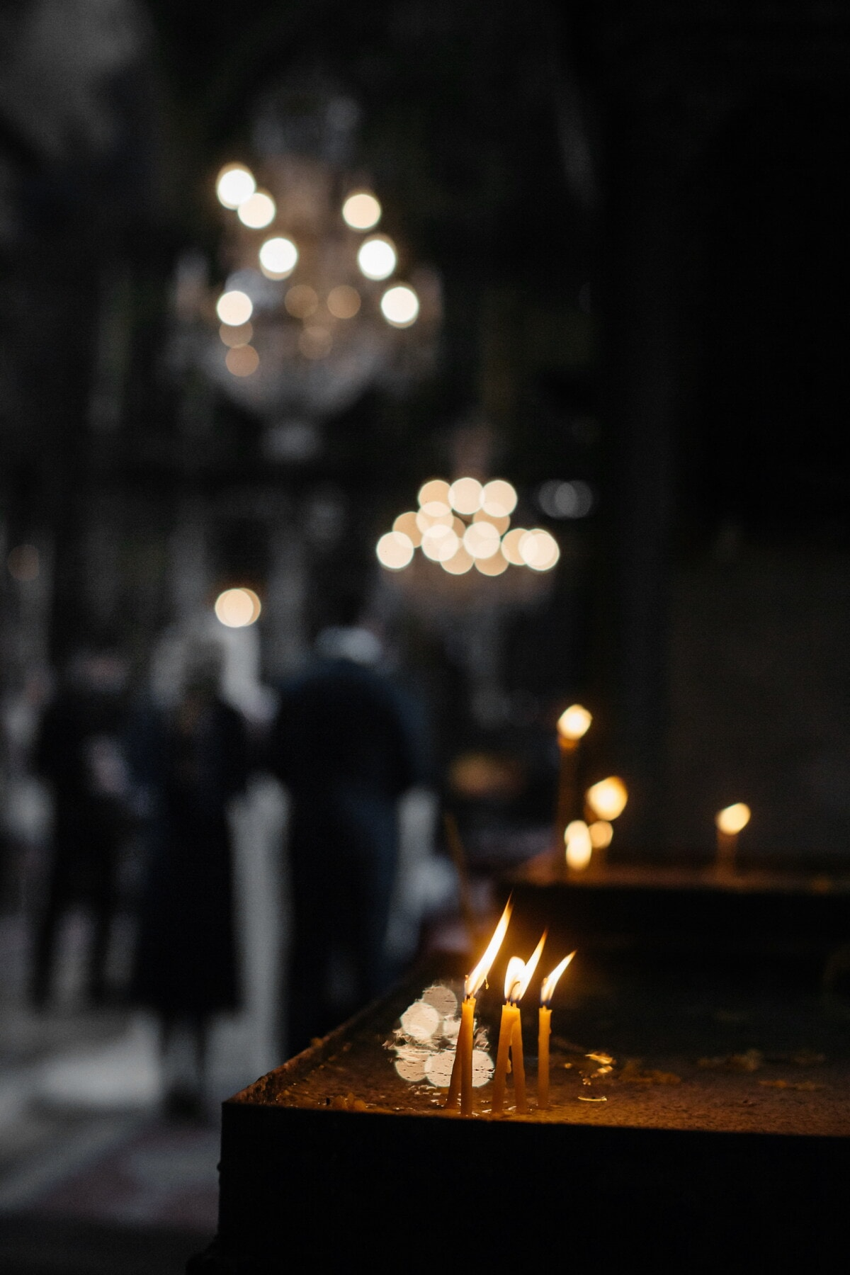 mourning, grief, church, darkness, candles, flame, candlelight, sadness, candle, light