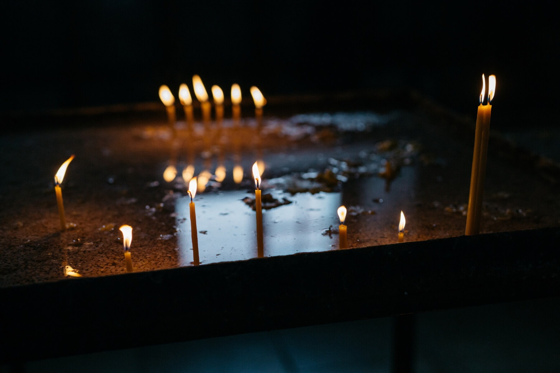 Tod, Trauer, Trauer, Kerzen, Candle-Light, Kerze, Leuchter, Brennen, Flamme, Feuer