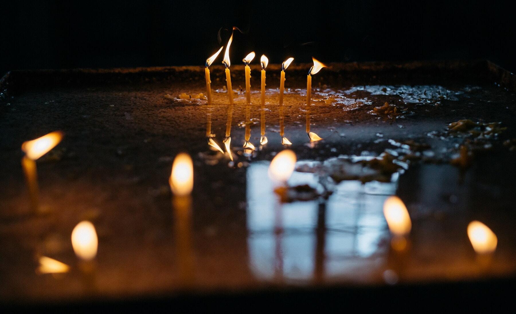 Trauer, Kerzen, Dunkelheit, Trauer, geistigkeit, Flammen, Tod, verwischen, Flamme, Kerze