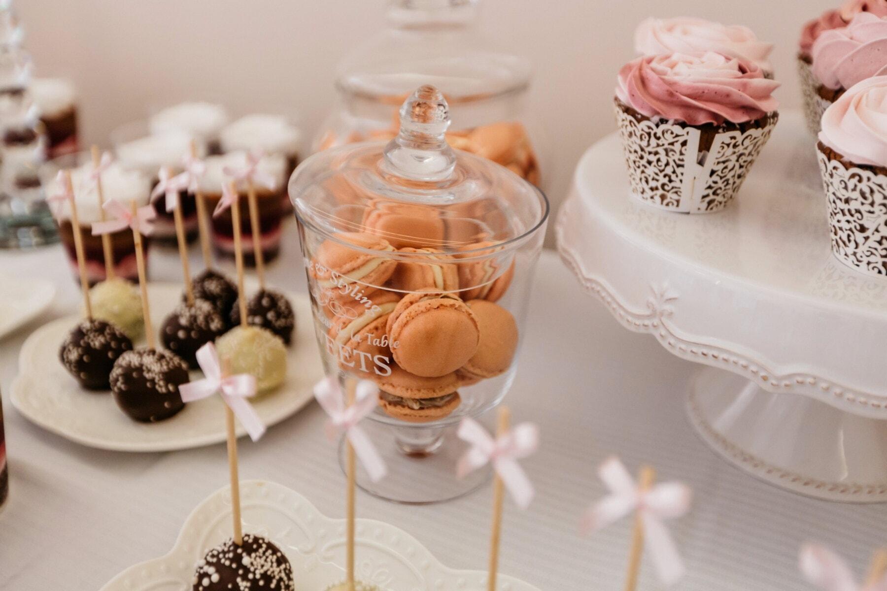 jar, crystal, biscuit, chocolate, glass, sugar, sweet, cream, candy, cake