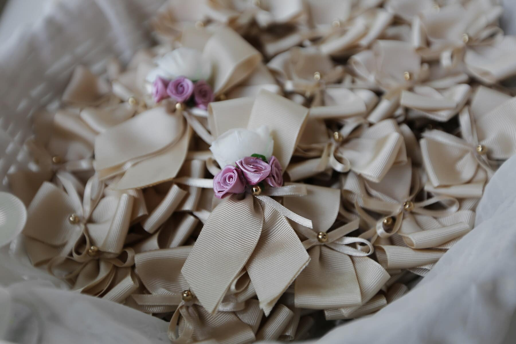 roses, handmade, pinkish, miniature, ribbon, interior decoration, wedding, romance, interior design, still life