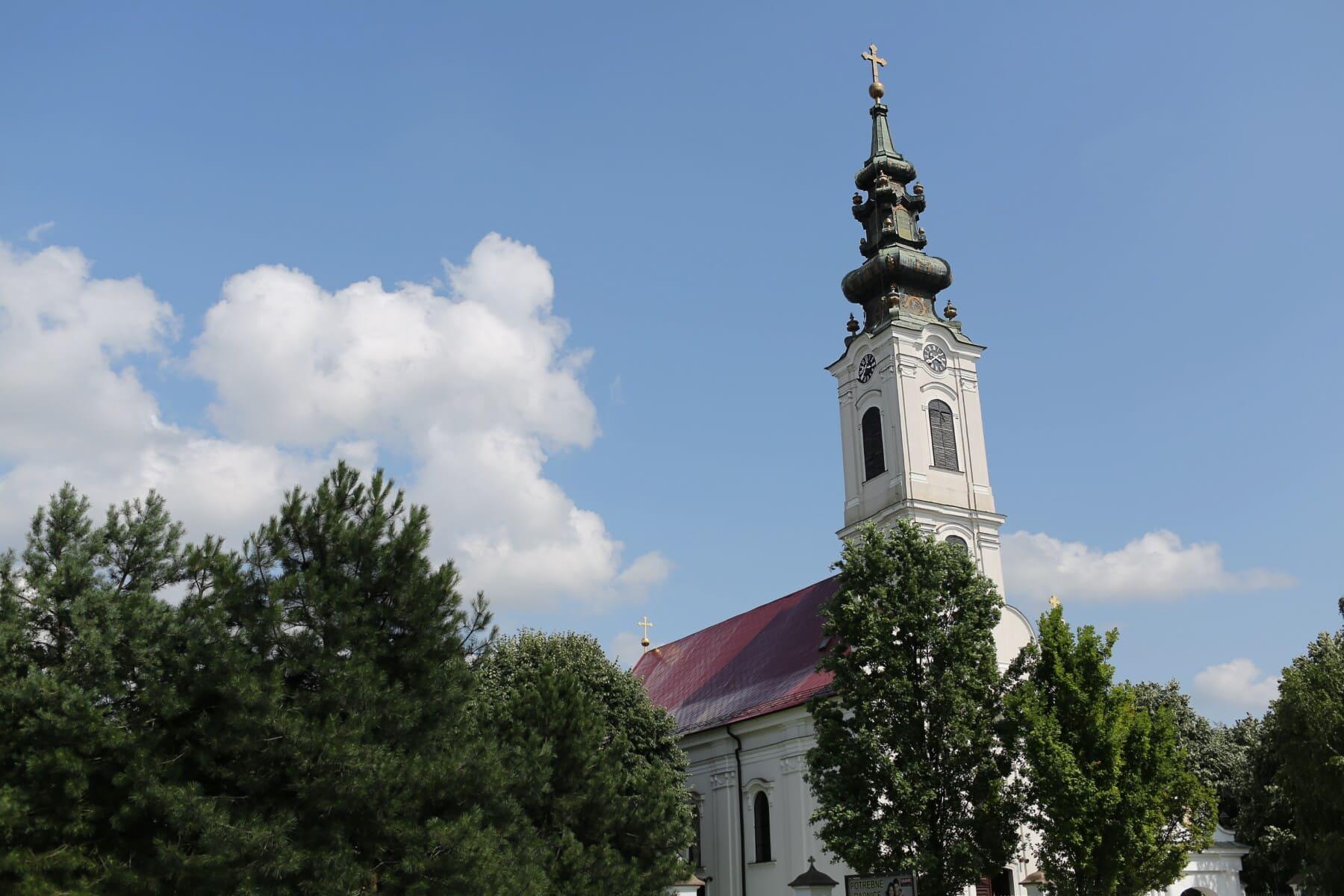 Bačka Palanka, pravoslavna crkva, crkveni toranj, Srbija, crkva, kršćanski, visok, toranj, arhitektura, zgrada, religija