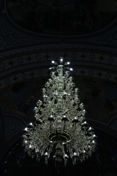crystal, chandelier, interior decoration, church, religion, cathedral, architecture, art, light, luxury