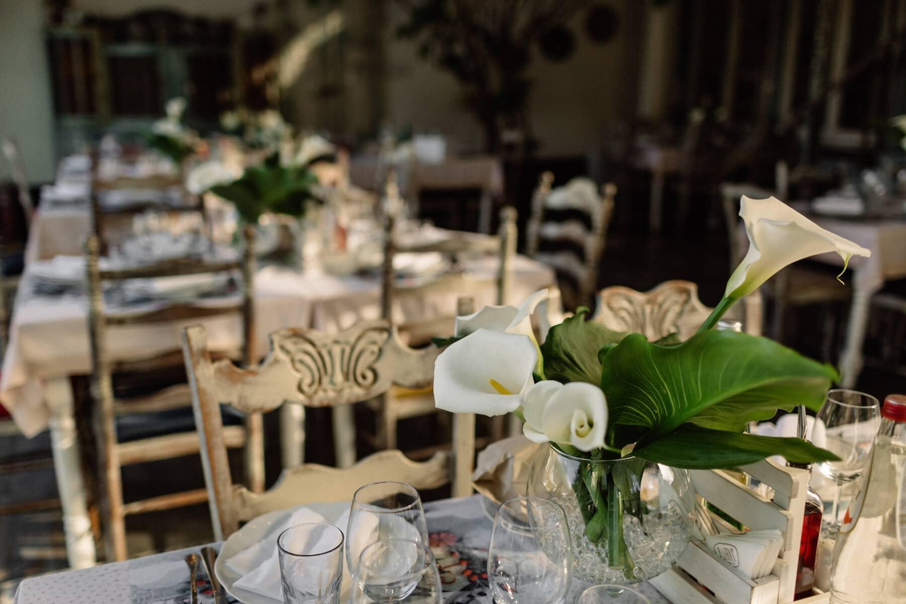cutlery, dinner, table, restaurant, dining, hotel, tableware, silverware, chair, interior design