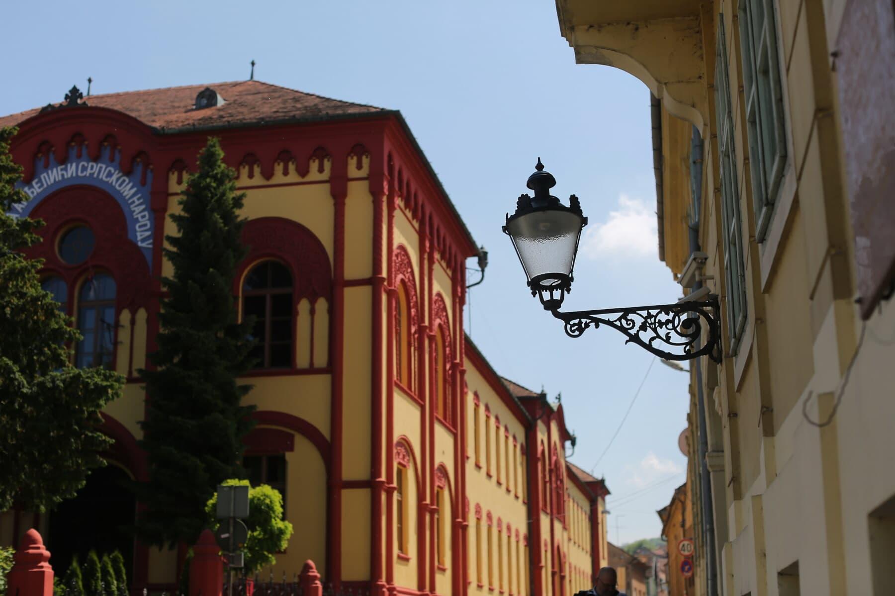 Sremski Karlovci, Srbija, starinsko, lanterna, lijevano željezo, arhitektonski stil, zgrada, barok, arhitektura, zgrada