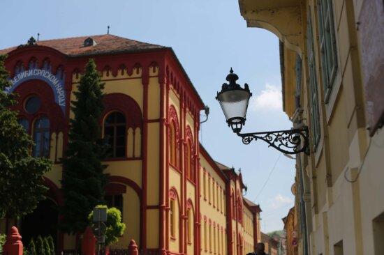 реколта, фенер, чугун, архитектурен стил, сгради, Барок, архитектура, сграда, град, улица