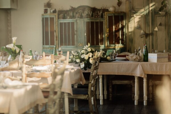vintage, restaurant, cafeteria, wedding venue, tableware, room, seat, chair, furniture, interior design