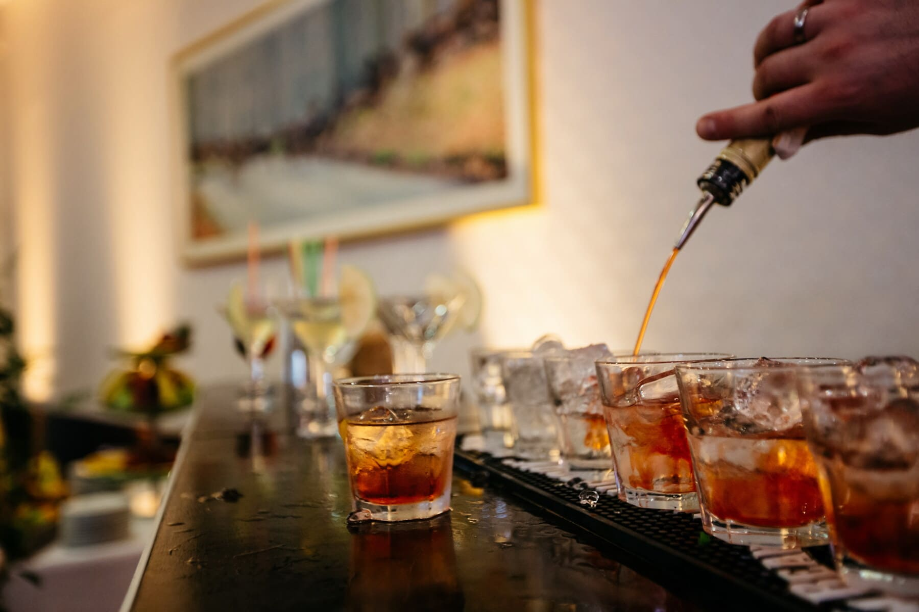 Nachtclub, Alkohol, Barmann, Cocktails, Getränke, Kälte, Flasche, Eiskristall, Wein, Partei