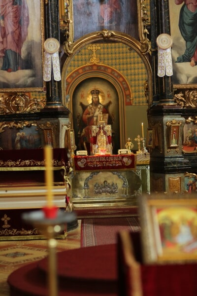 worship, icon, altar, interior design, church, monastery, russian, orthodox, religion, cathedral