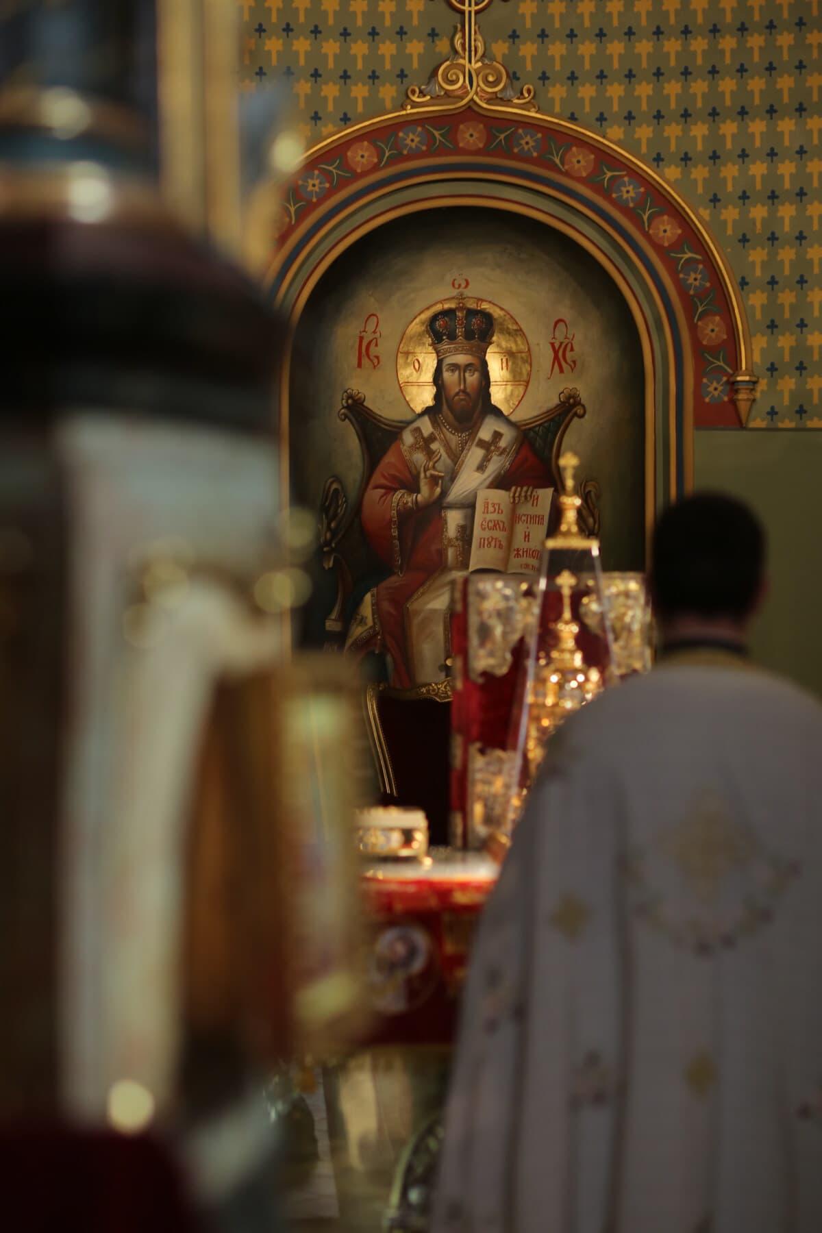 paradis, Saint, King, royaume, Christ, Christianisme, église, prêtre, autel, vêtement de cérémonie