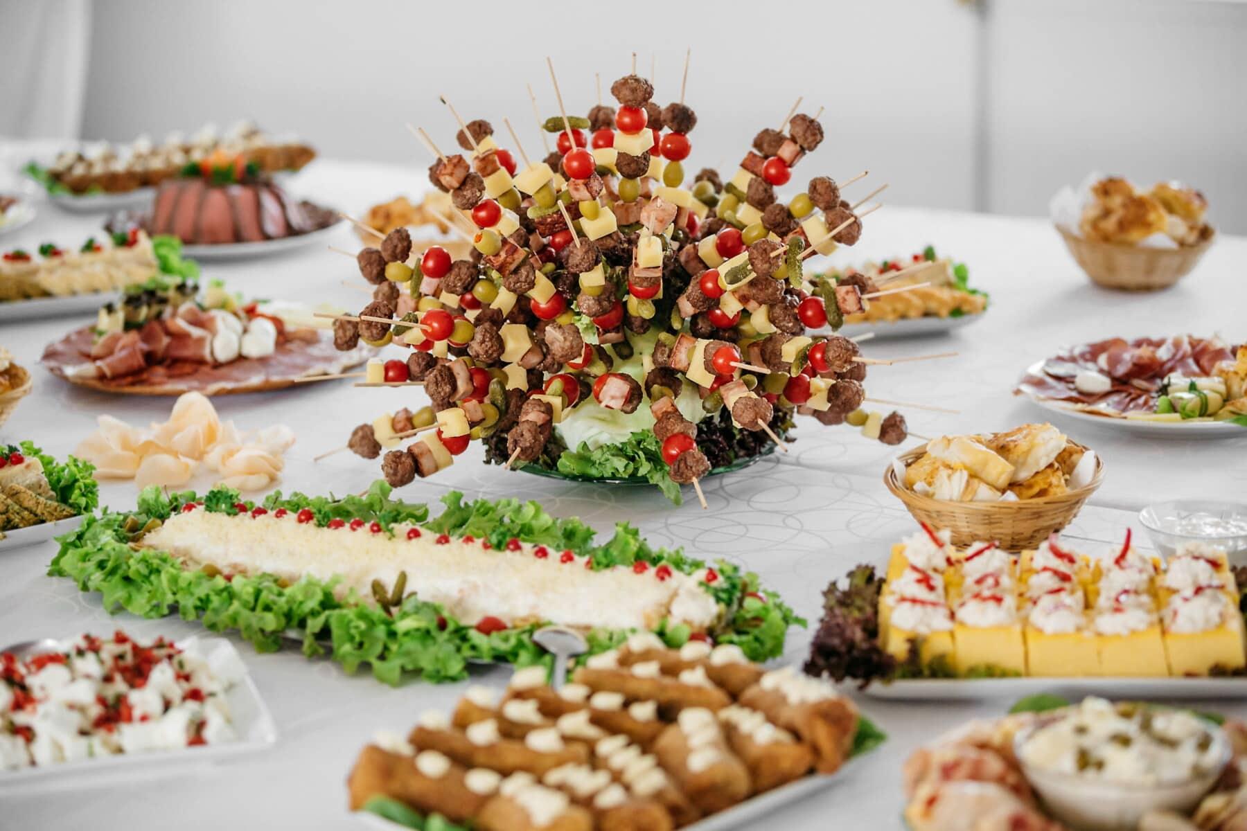 alimentaire, apéritif, banquet, buffet, dîner, Conseil d'administration, repas, déjeuner, délicieux, le petit déjeuner