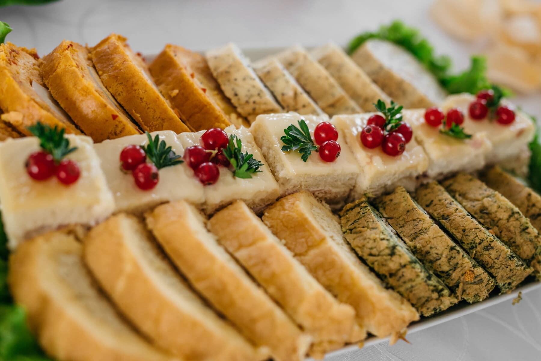 lớp vỏ bánh, bánh nướng, rau diếp, pho mát, ăn trưa, thịt, bánh mì nướng, Bữa sáng, Bữa ăn, tấm