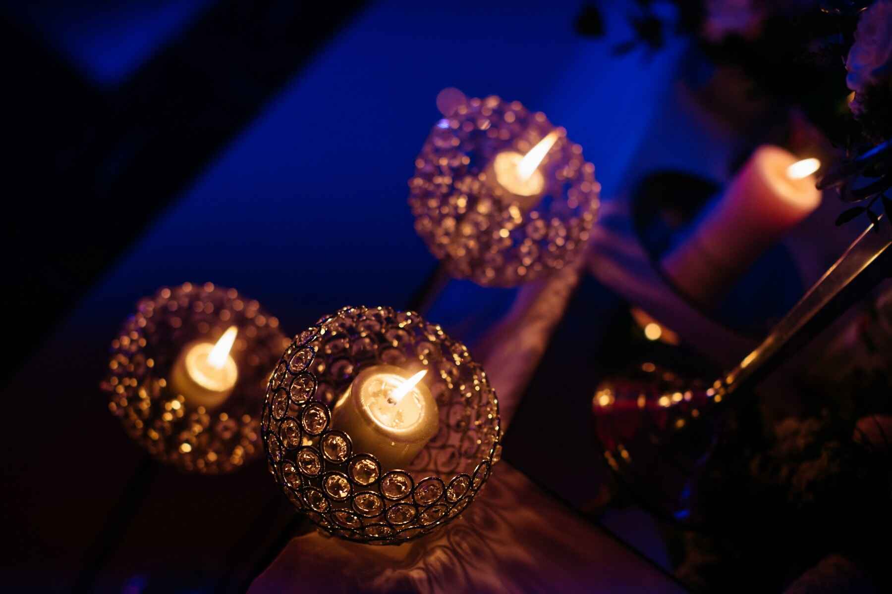 candlestick, crystal, fancy, darkness, candles, light, candlelight, candle, flame, dark