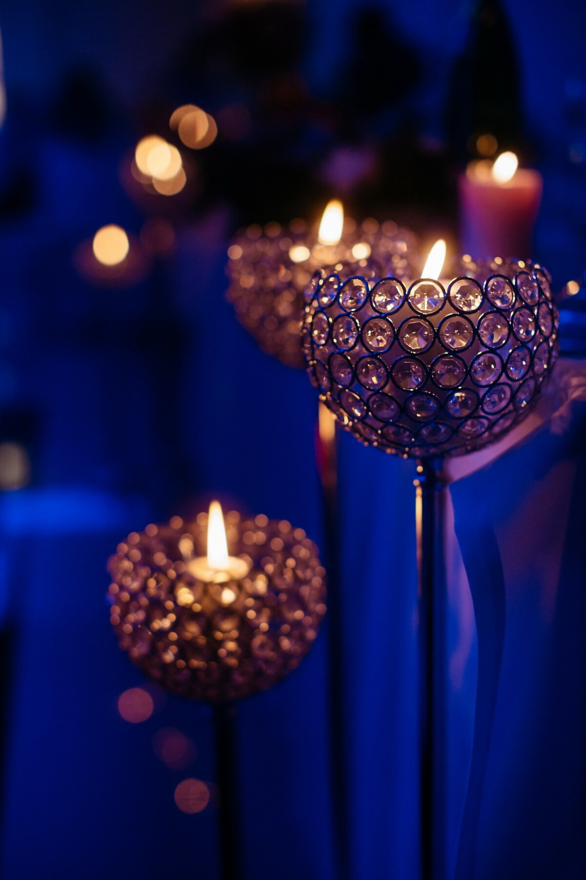 fint, ljusstake, eleganta, natten, natt, kristall, ljus, ljus, levande ljus, lysande